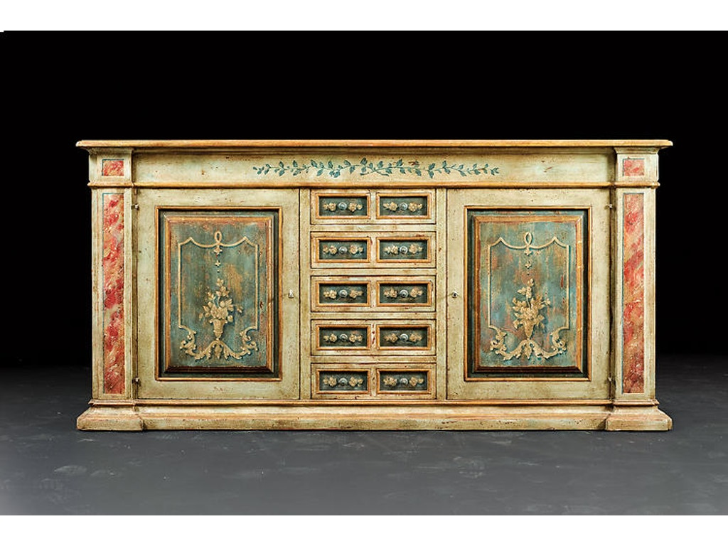 David Michael Furniture Dining Room Hand Painted Sideboard Pm 2827 Hickory Furniture Mart