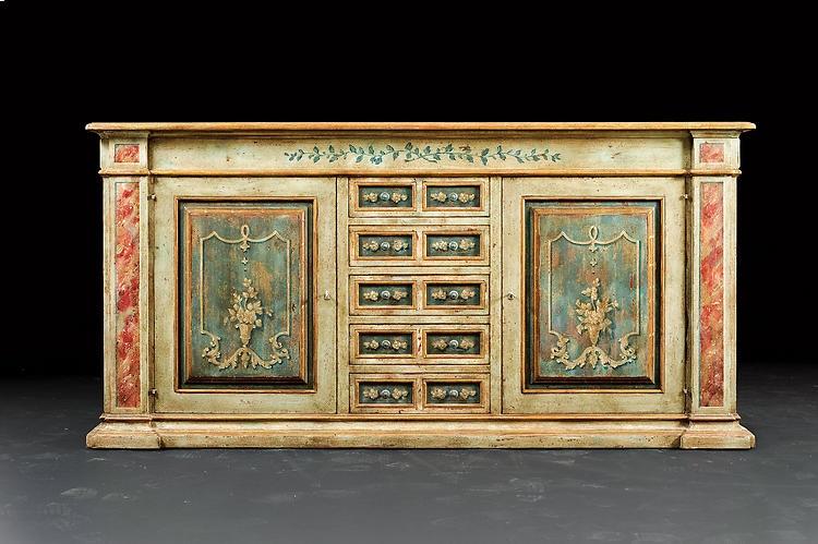 Superb David Michael Furniture Hand Painted Sideboard PM 2827