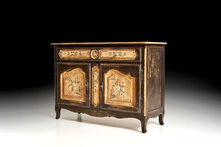 Wonderful David Michael Furniture Credenza With Hand Painted Decorations PM 4126
