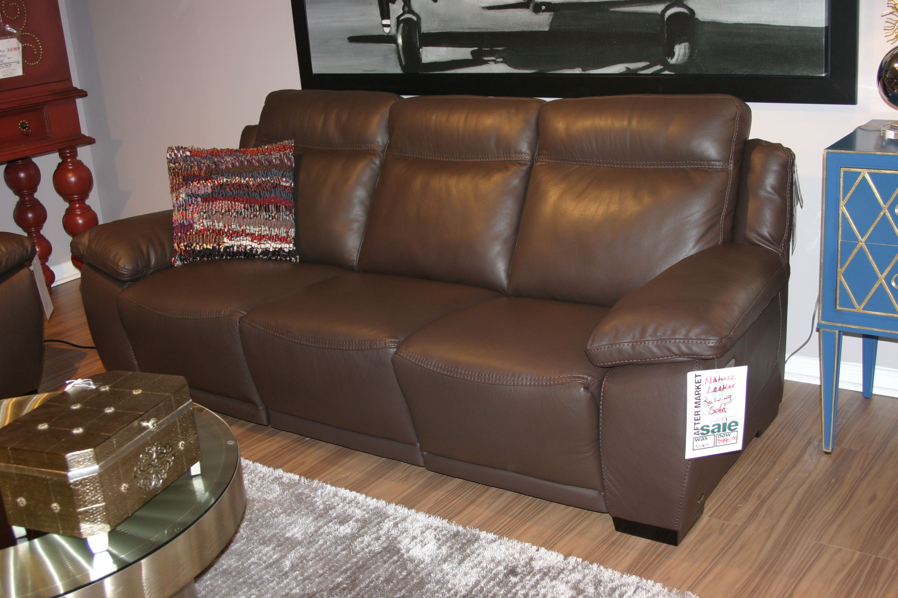 Natuzzi Outlet reflections furniture outlet living room leather 3 cushion reclining