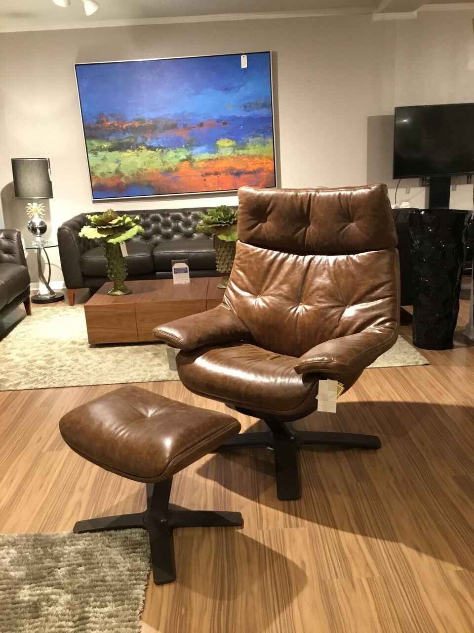 Reflections Furniture Outlet Natuzzi Revive Club King Recliner Set 50% Off