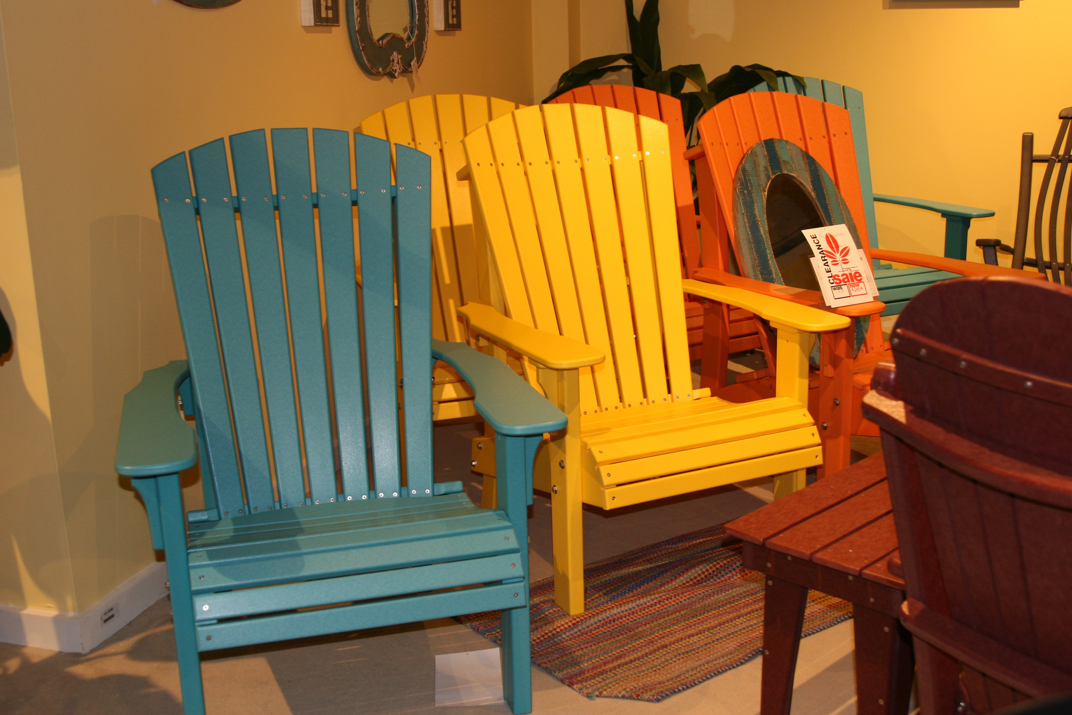 Delicieux Outdoor Furniture By Amish Oak And Cherry Adirondack Chair Made In USA Royal