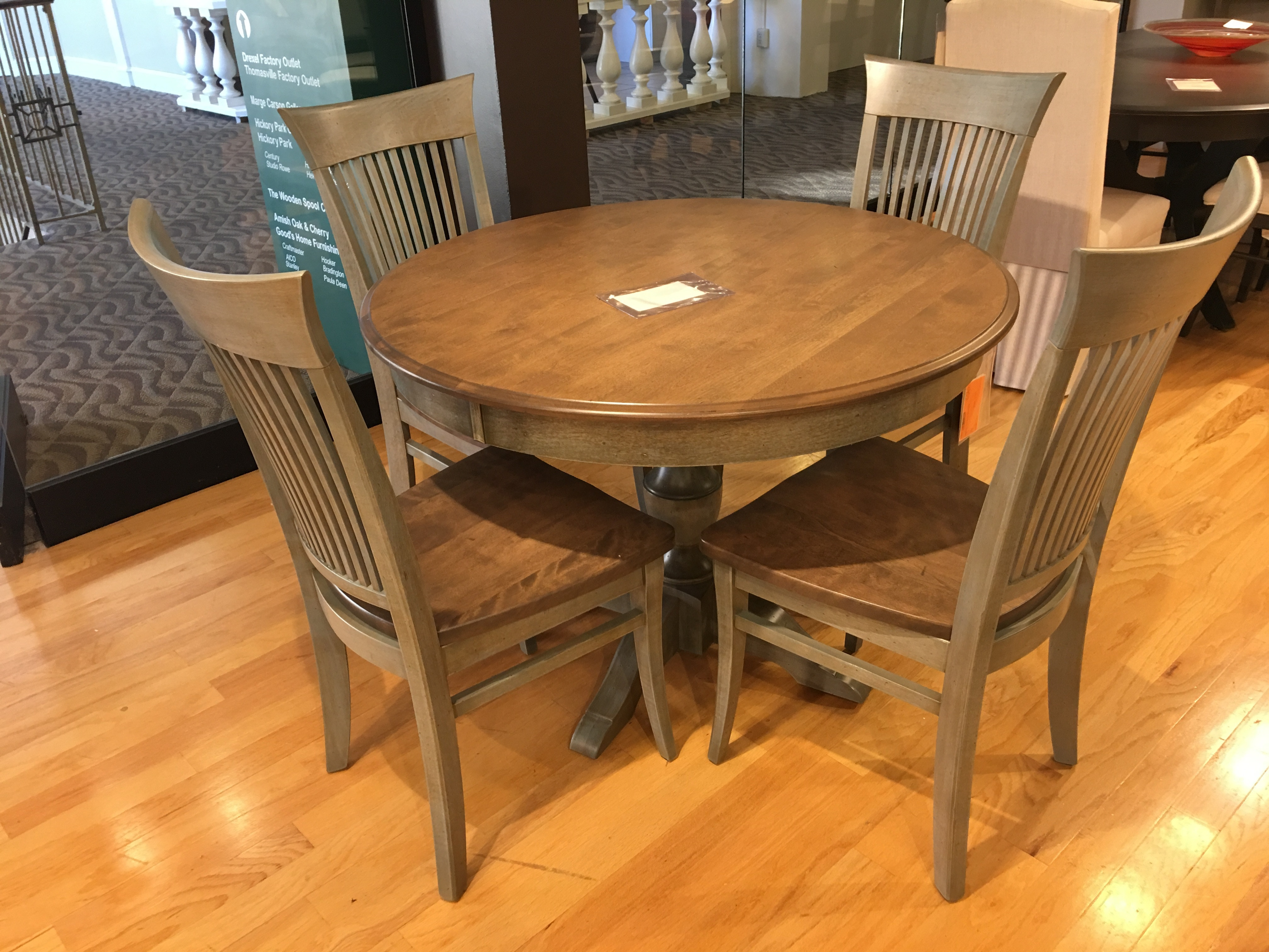 hickory dining table set. hickory park furniture outlet dining table and chairs by canadel trn-0-4242 set l