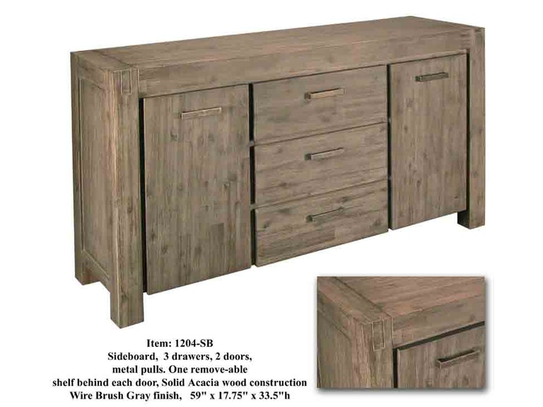 Accents Beyond Furniture Solid Acacia Sideboard 1204-SB
