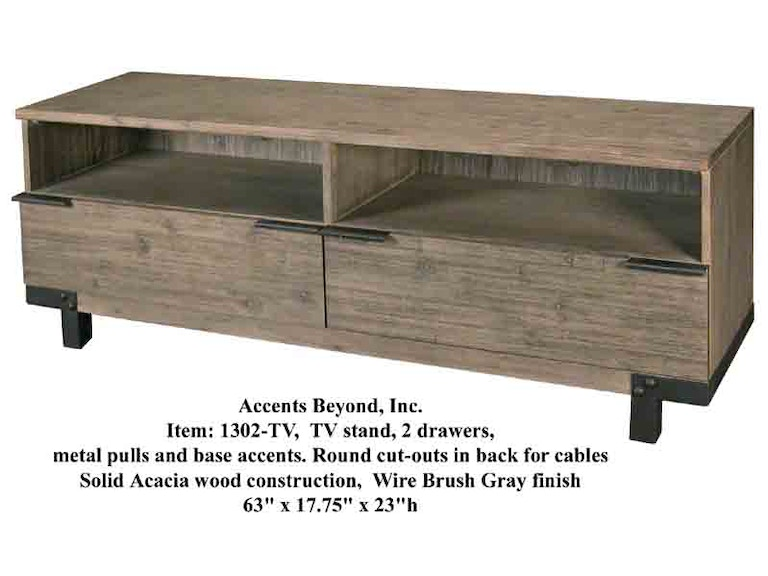 Accents Beyond Furniture TV Stand 1302-TV