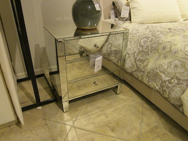 Bernhardt Furniture Mirrored Glass End Table by Bernhardt Interiors 336-102-GFO