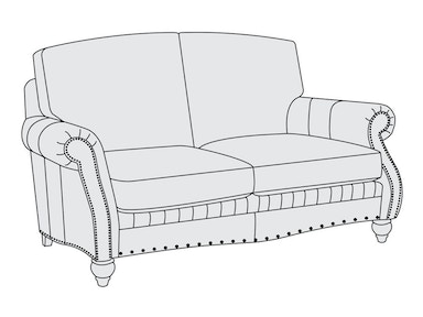 Bernhardt Furniture Tucker Loveseat 1865L