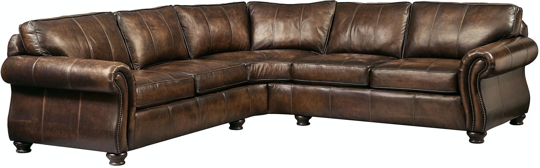 Bernhardt van gogh 2 piece leather sectional ebay - Bernhardt Furniture Van Gogh Leather Sectional Group 1992l 1991l