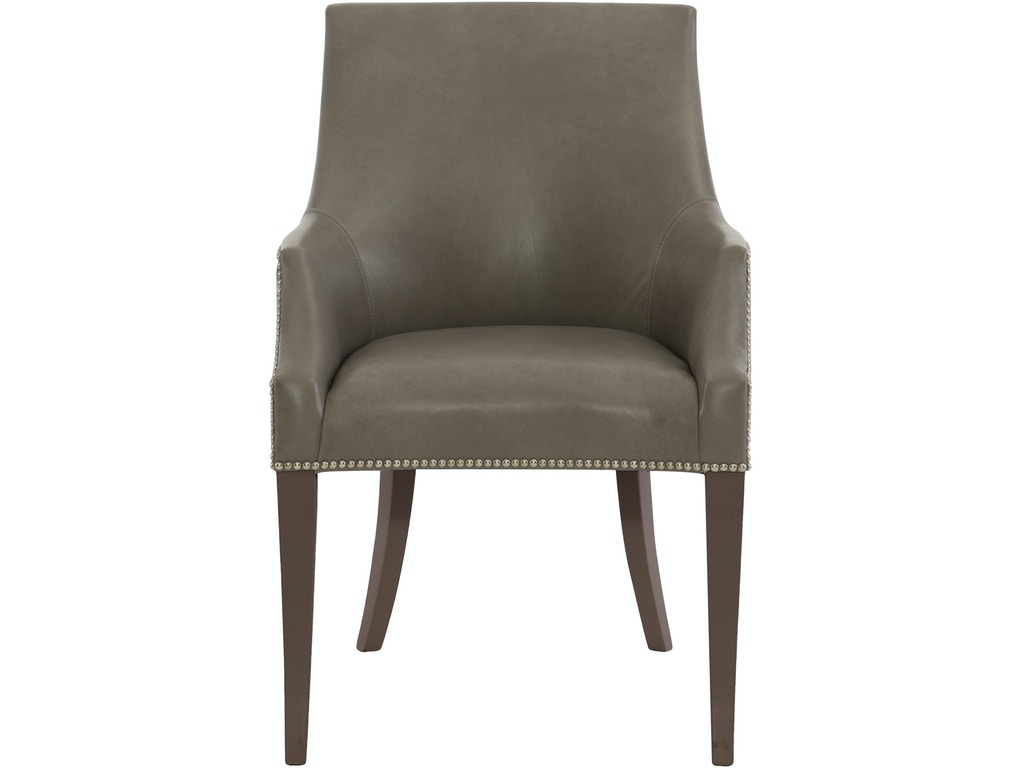 Bernhardt Interiors 348 42wl Dining Room Keeley Leather Dining Chair