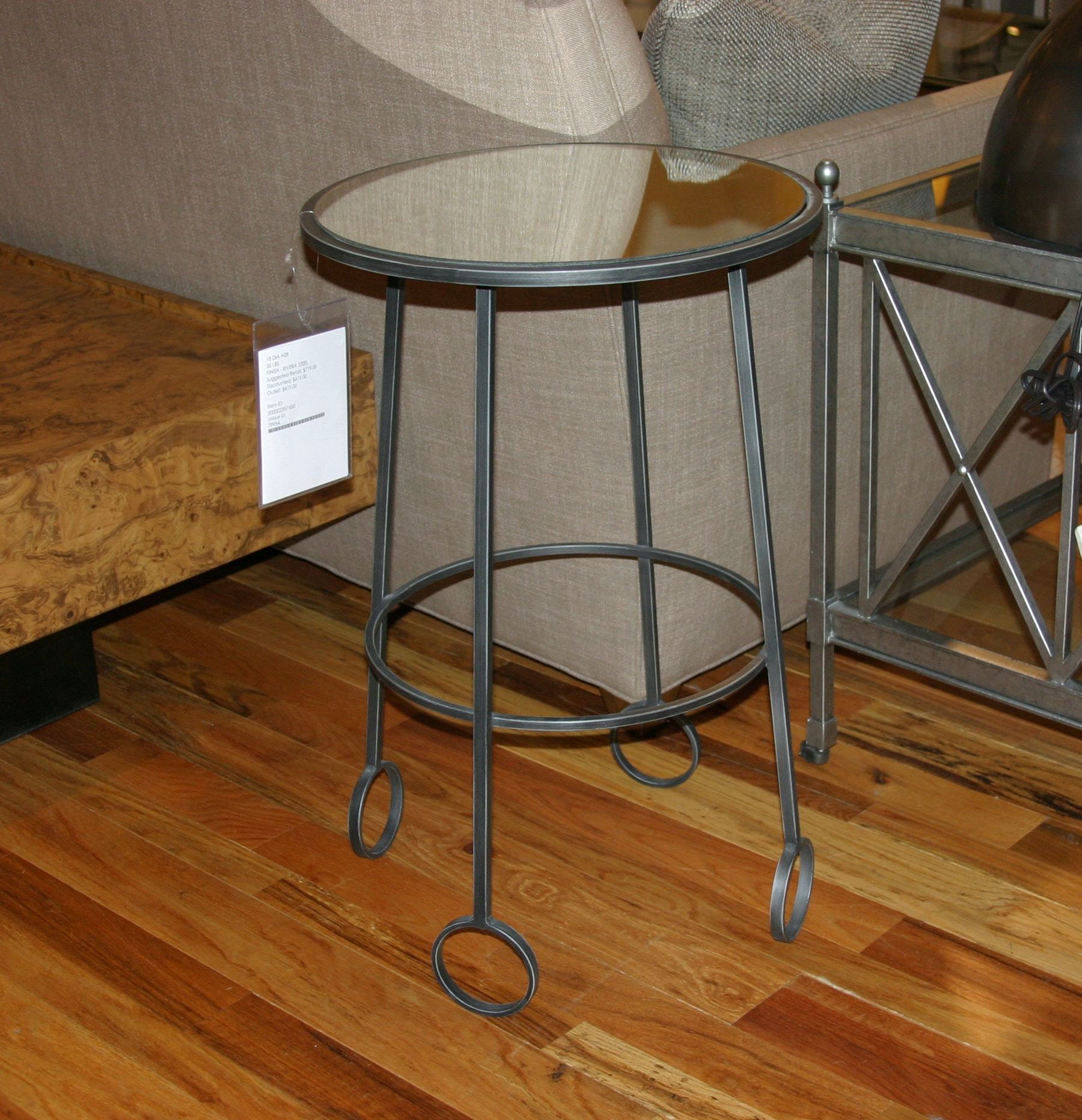 327EM RS Outlet. Rivera Steel Accent Table By Vanguard Furniture