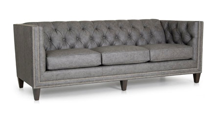 Smith Brothers Furniture Tufted Back Sofa 243 10