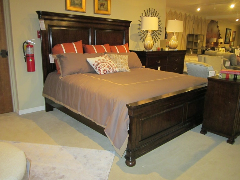 Stanley Furniture Bedroom Louis Philippe King Panel Bed 058-13-45 ...