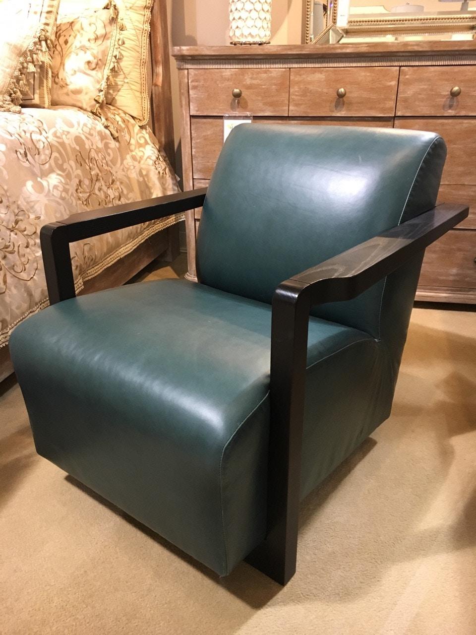 Bernhardt Interiors Wynn Leather Chair N8902L Clearance