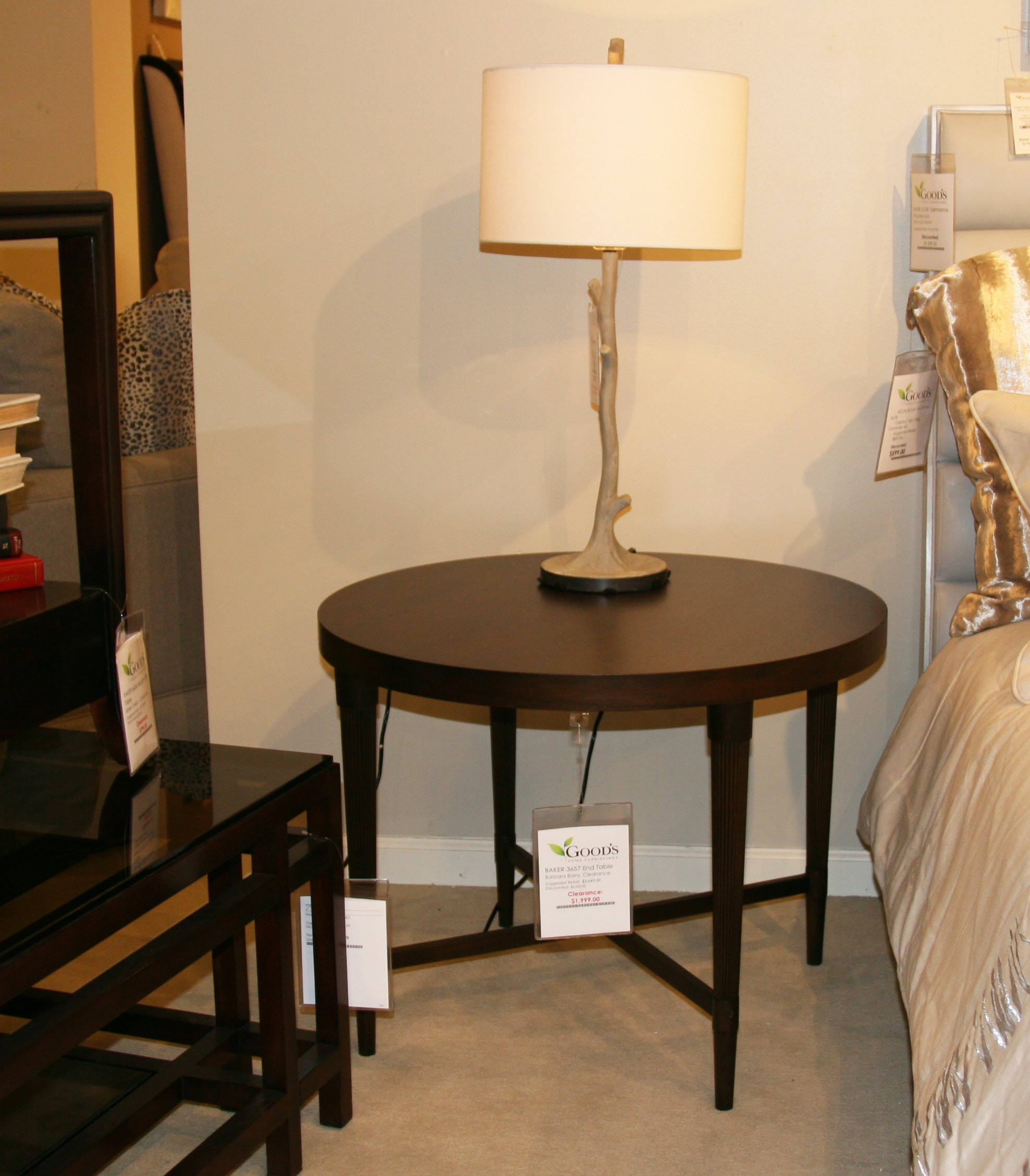 Baker Furniture Barbara Barry End Table 3657 Clearance