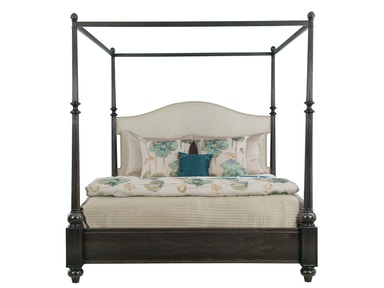 Bernhardt Furniture Sutton House Upholstered Canopy Bed 367-H49/367-F49/367-R49