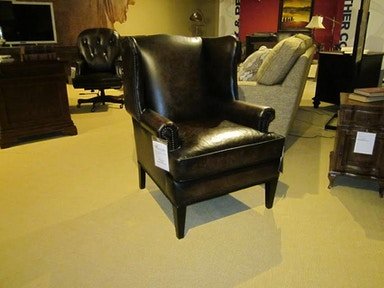 Bernhardt Furniture Heath Leather Wing Chair 3922LO-GFO