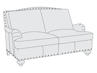 Bernhardt Furniture Fulham Loveseat 3855L