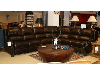 Bradington Young Furniture Reid 4 Piece Leather Motion Sectional by Bradington-Young 912-38/55PI/56PI/68 Clearance
