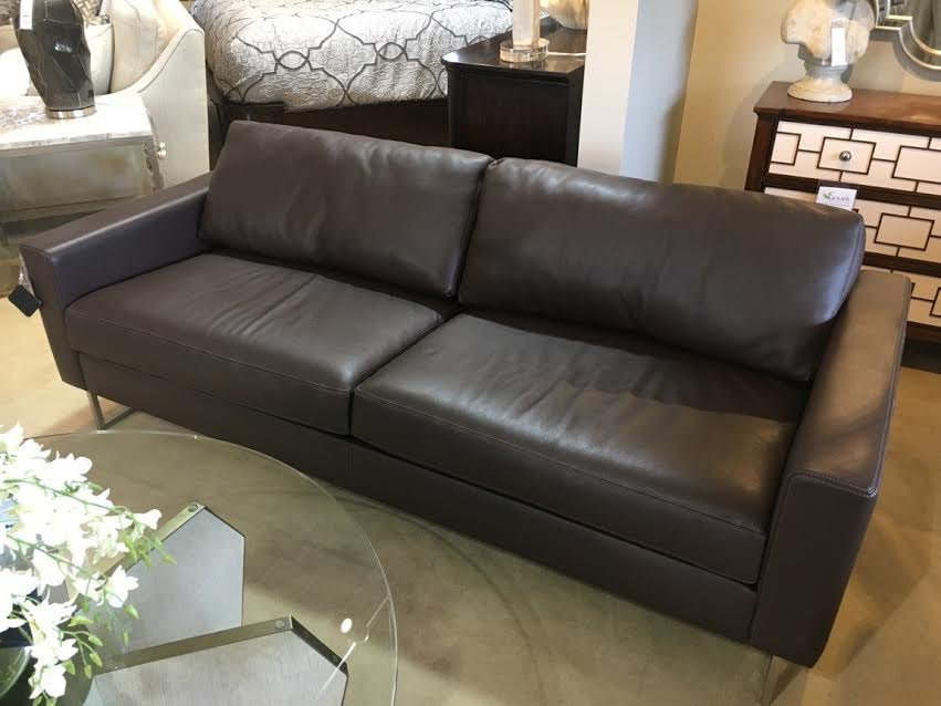 american leather city scale ely leather sofa elys02st clearance - American Leather Sofa