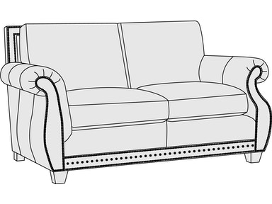 Bernhardt Furniture Parker Loveseat 4075L