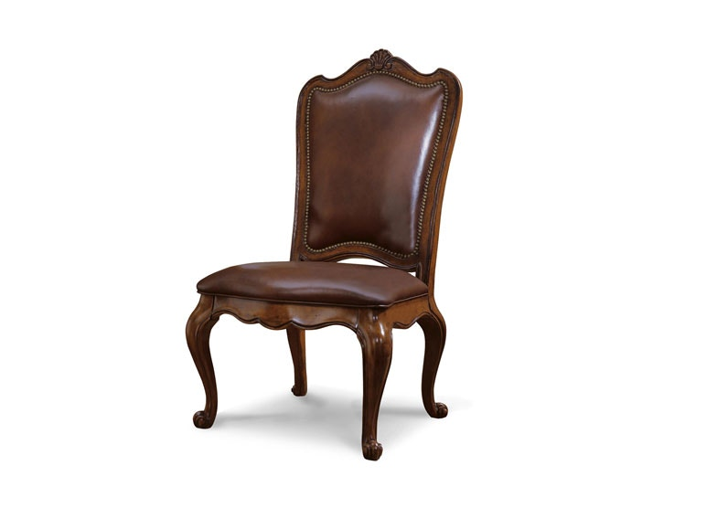 Universal Furniture Villa Cortina Leather Upholstered Back Side Chair  409638L RTA C