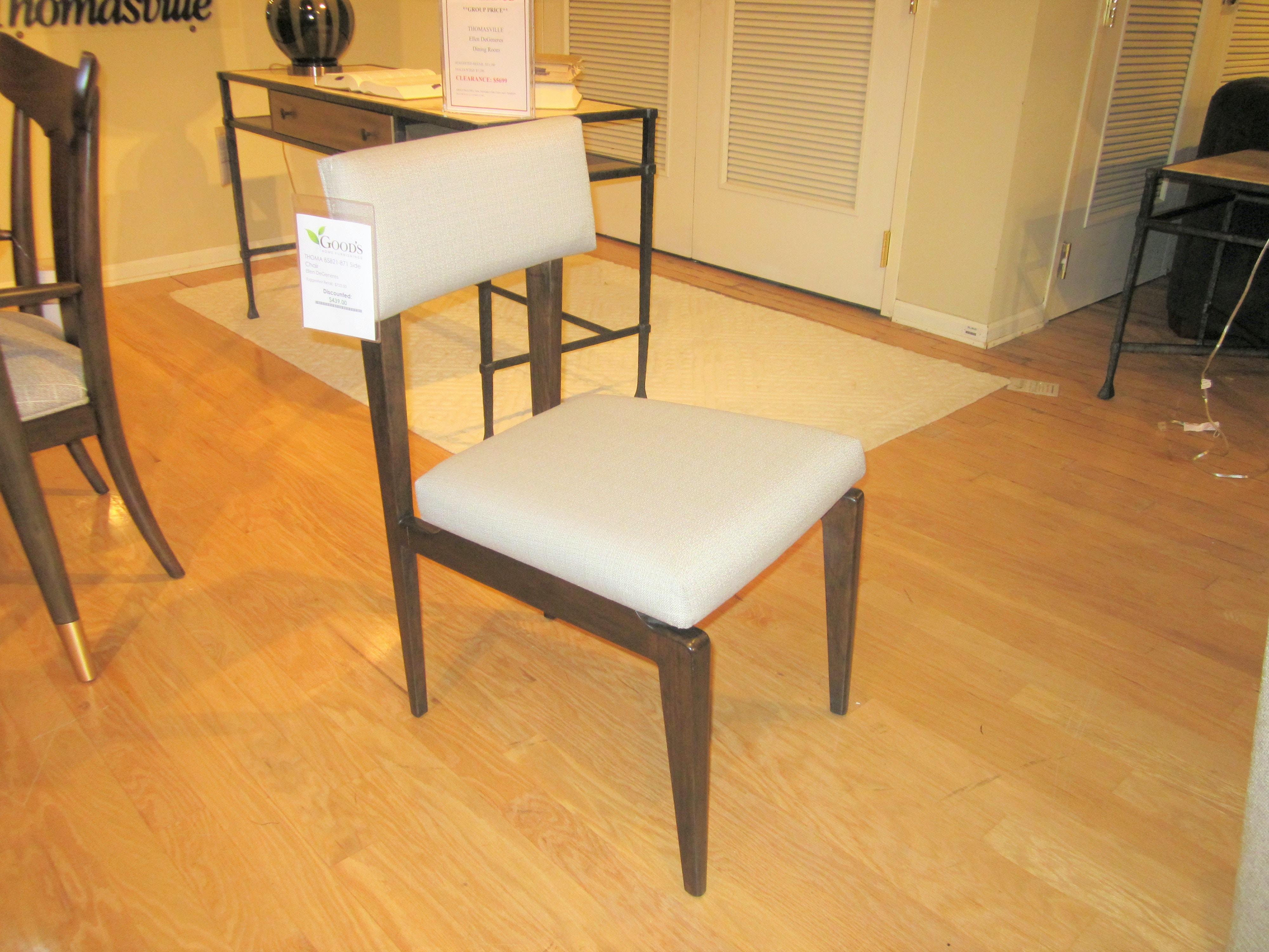 Superieur 85821 871 Clearance Thomasville Furniture Ellen Degeneres Side Chair Goods  Clearance In Hickory
