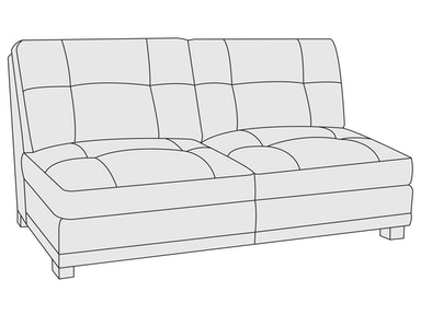 Bernhardt Furniture Yorke Armless Loveseat 4140L