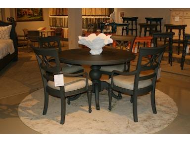 Coastal Living Furniture Retreat Round Pedestal Table Painted Top 411 81 37