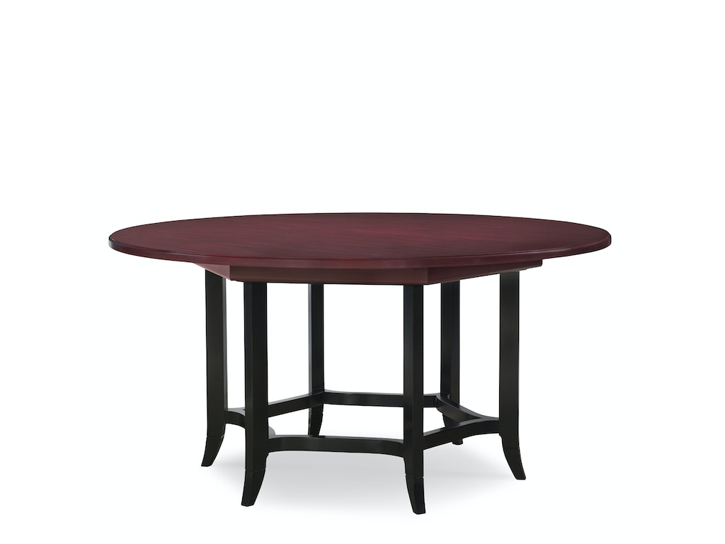 Henkel Harris Furniture Dining Room Round Dining Table With 1 24in Apron Filler 440v Goods