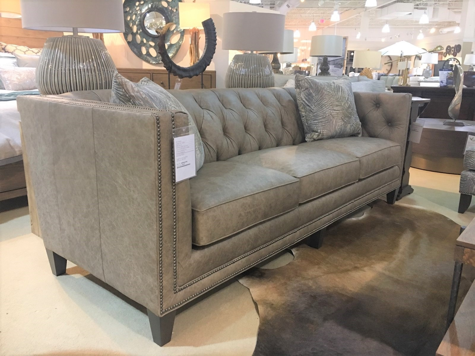 Smith Brothers Furniture 243 10 Clearance Living Room Leather Tufted