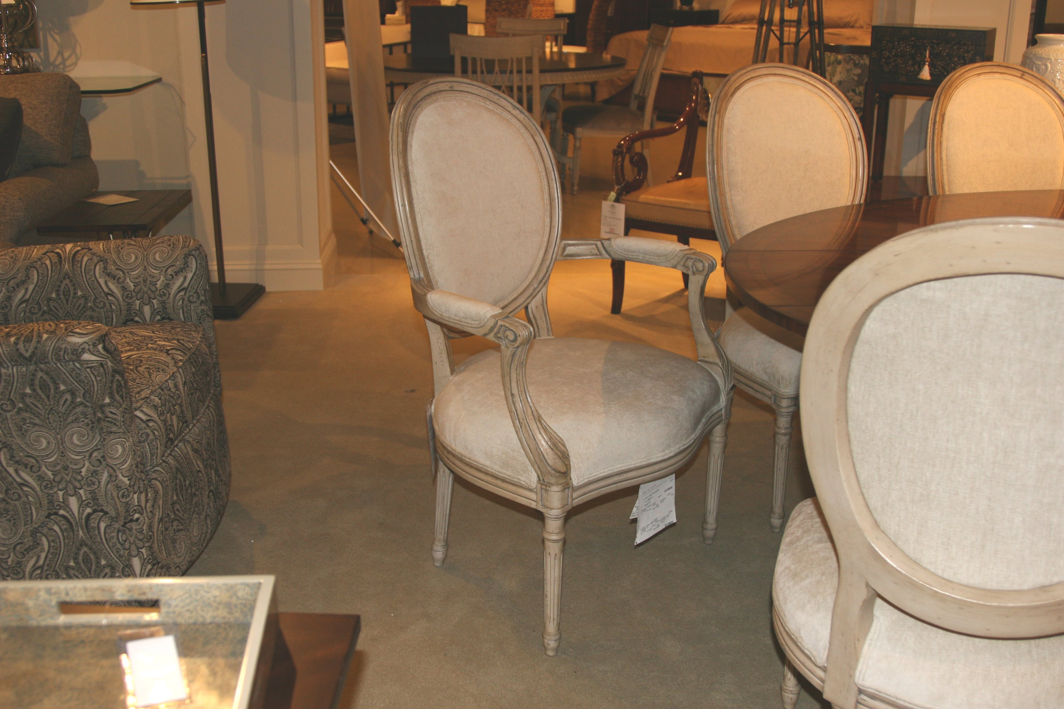Picture of: Lillian August For Hickory White La1102c Outlet Dining Room Beckmore Host Chair