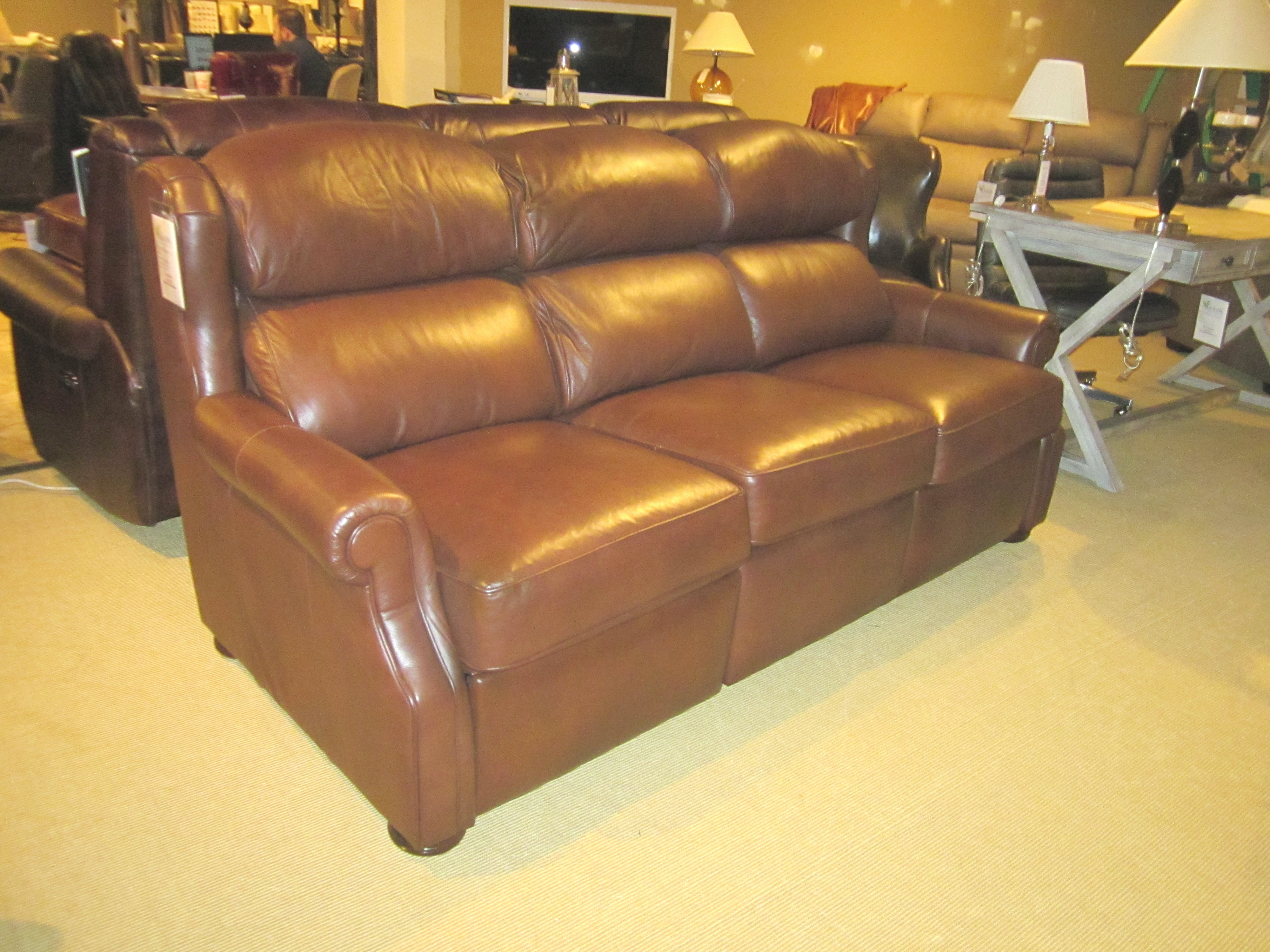 Bradington Young Furniture Armando Reclining Leather Sofa 930 90 Clearance