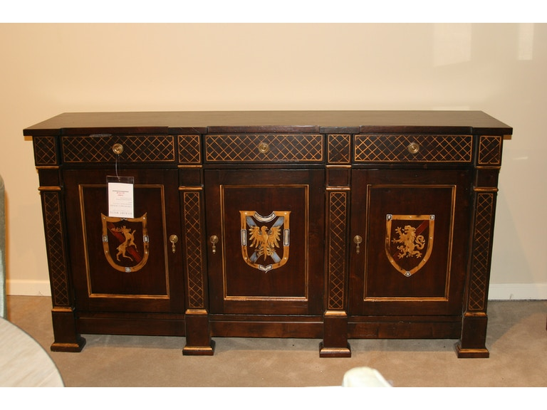 860 21 00 Outlet Hickory White Furniture Vineyard Haven Hand Painted Buffet