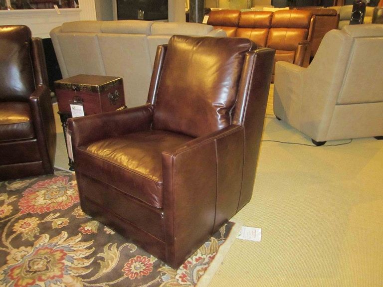 Keever Swivel Leather Chair