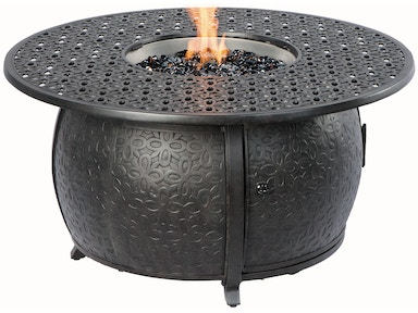 Alfresco Home Margherita 48 Round Gas Fire Pit Chat Table 55-1210