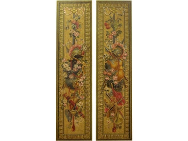 Accents Beyond Furniture Accessories Pair of Hand Painted Panels
