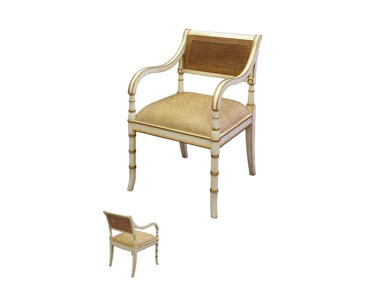 Accents Beyond Furniture Cane Back Arm Chair 08-2317A