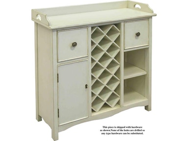 Accents Beyond Furniture Bar Chest With Wine Rack 09-2323