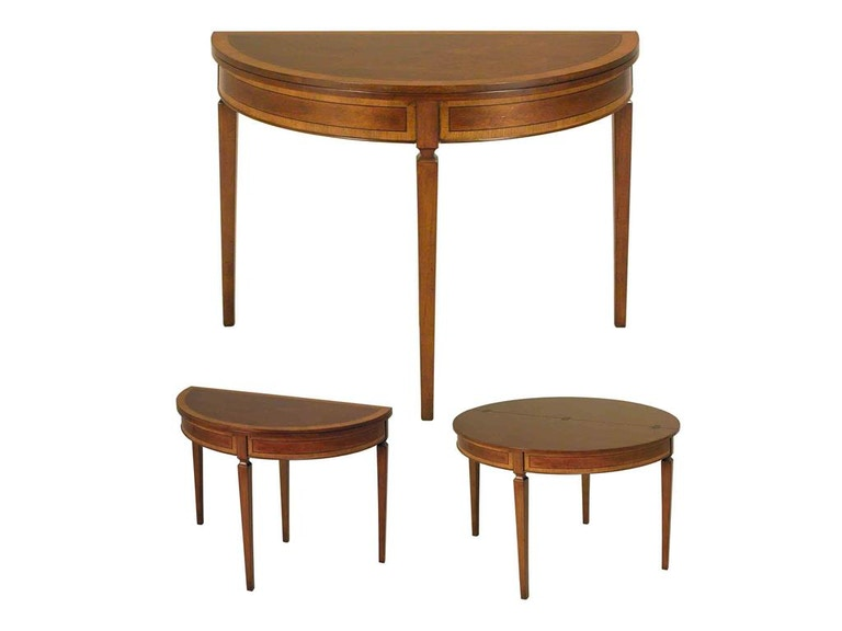 Accents Beyond Furniture Demilune Table 1368