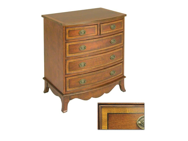 Accents Beyond Furniture Bow Front Chest 1387