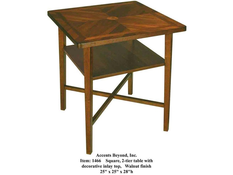 Accents Beyond Furniture 2-Tier Table 1466