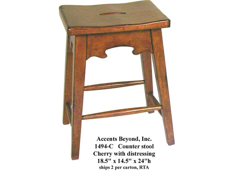 Accents Beyond Furniture Counter Stool 1494-C