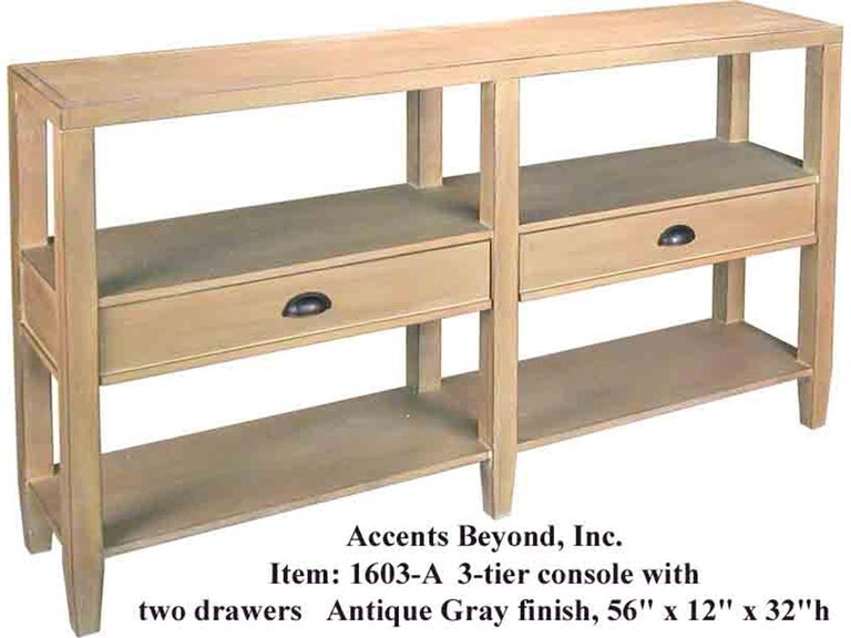 Accents Beyond Furniture Console Table 1603-A