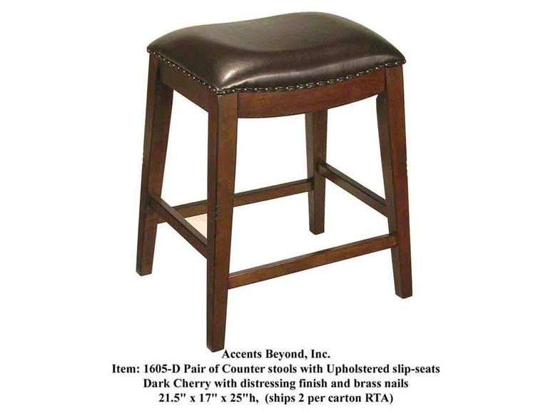Accents Beyond Furniture Counter Stool 1605-D