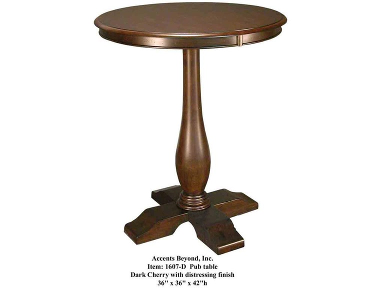 Accents Beyond Furniture Pub Table 1607-D