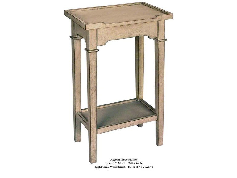 Accents Beyond Furniture 2-Tier Table 1613-LG