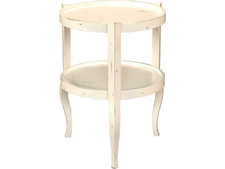Accents Beyond Furniture Round 2-Tier Table 1712-W