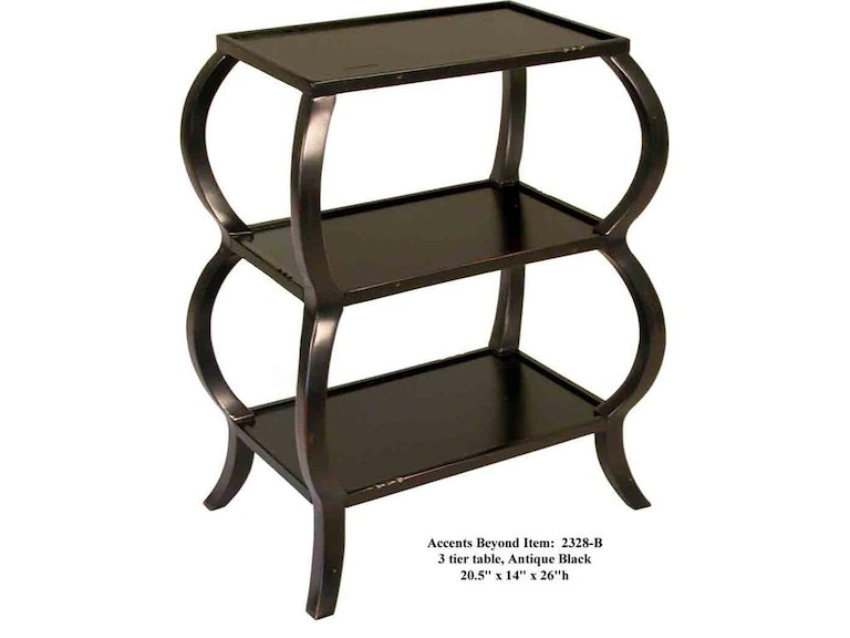 Accents Beyond Furniture 3-Tier Table 2328-B