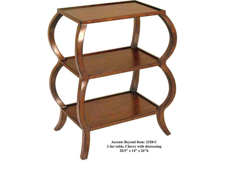 Accents Beyond Furniture 3-Tier Table 2328-C