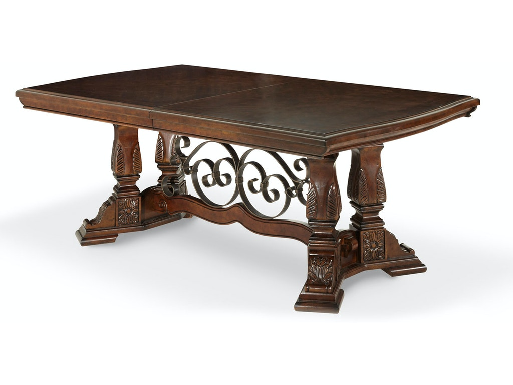Aico Furniture 70002 54 Dining Room Rectangular Dining Table 3 Pc